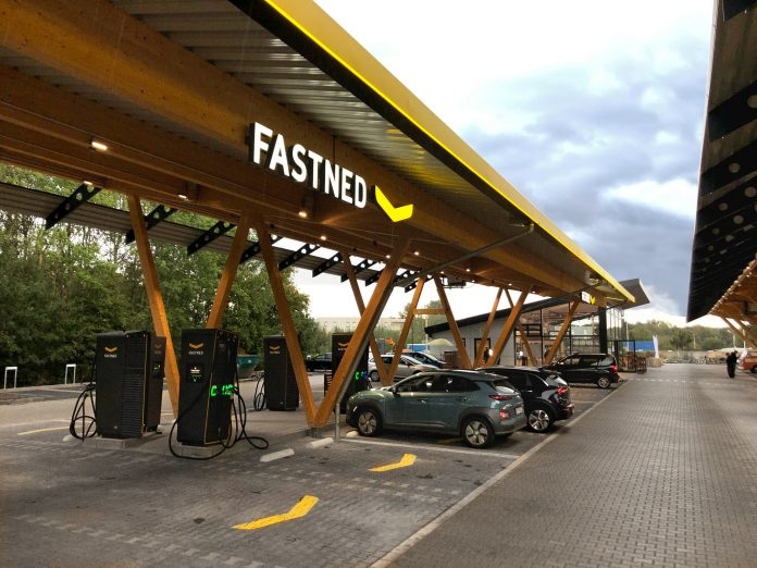 Fastned Ladestationen bei Seed & Gree